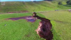 Uutisvideot: Uudessa-Seelannissa maanvajoama paljasti tulivuoren rippeet