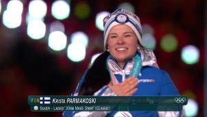 Korean olympialaiset: Krista Pärmäkoski sai hopeamitalinsa