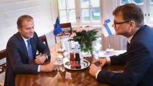 Yle Uutiset suora: Sipilän ja Eurooppa-neuvoston puheenjohtaja Tuskin tiedotustilaisuus