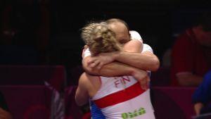 Urheilujuttuja: Petra Olli haki EM-kultaa trillerifinaalista