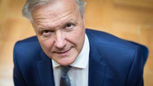 Suomen Pankin vastavalitun johtajan Olli Rehnin tiedotustilaisuus