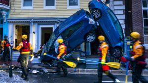 Hyökytulvat tekivät tuhojaan Marylandissa
