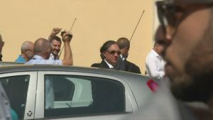 Italian uusi sisäministeri Matteo Salvini vastaanottokeskuksessa
