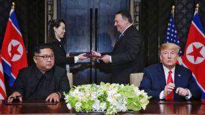 Trump ja Kim allekirjoittivat julkilausuman