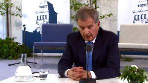 Kultaranta-keskustelut alkavat – Presidentti Niinistön lehdistötilaisuus