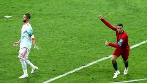 Cristiano Ronaldon kova laukaus yllätti David de Gean