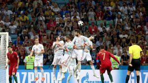 Maalikooste: Ronaldo hattutemppuun Portugalin ja Espanjan tasapelissä