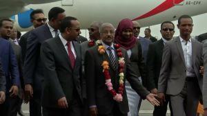Historiallinen rauhanneuvottelu: Etiopia ja Eritrea tervehtivät toisiaan 20 vuoden rajasodan jälkeen