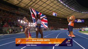 Dina-Asher Smith juoksi ylivoimaisesti Euroopan nopeimmaksi naiseksi