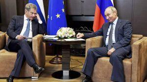 Niinistö ja Putin neuvottelivat Sotshissa
