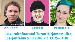 Turun Kirjamessut: Miten kääntää lukutaito nousuun? Lukutaitofoorumi etsii ratkaisuja