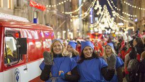Joulukatu sai valaistuksen Helsingissä