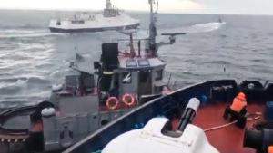 Video: Venäjän laiva törmäsi päin Ukrainan alusta Kertšinsalmessa