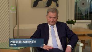 Presidentti Niinistö Al Goren tentissä