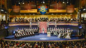Fysiikan, kemian, lääketieteen, kirjallisuuden ja talouden Nobelit jaetaan Tukholmassa