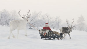 Joulupukki lähti matkaan Korvatunturilta