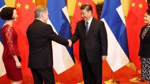 Suomen ja Kiinan presidentit tapasivat