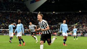 Newcastle kaatoi yllättäen Manchester Cityn– katso tästä ottelun maalit