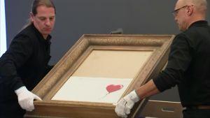 Banksyn itsensä silpunnut taideteos päätyi Saksaan näytille