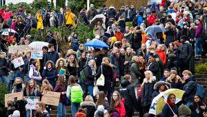 Norjalaisnuoret koululakossa ilmaston puolesta