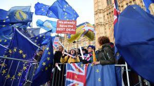Lontoossa marssitaan uuden brexit-kansanäänestyksen puolesta