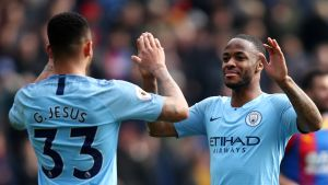Manchester City tyly vieras Crystal Palacelle
