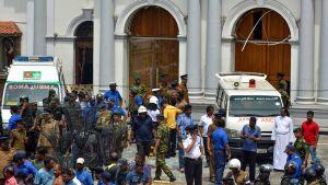 St. Anthony's Shrine -kirkko joutui iskun kohteeksi Sri Lankassa