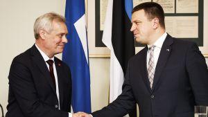 Pääministeri Antti Rinne ja Viron pääministeri Jüri Ratas tapaavat Tallinnassa