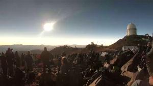 Harvinainen auringonpimennys Chilessä