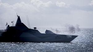 Ruotsin Merivoimien ampumaharjoitus Itämerellä