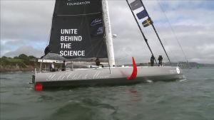 Ilmastoaktivisti Greta Thunberg lähti purjehdukselle Atlantin yli