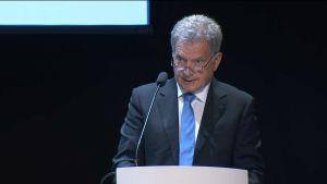 Presidentti Niinistö puhui suurlähettiläspäivillä