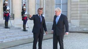 Ranskan presidentti Emmanuel Macron Britannian Boris Johnsonille:  Britannian kohtalo on teidän käsissänne