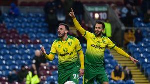 Norwich kaatoi Burnley FA cupissa