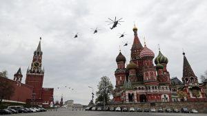Voitonpäivää Moskovassa juhlistetaan lentonäytöksellä
