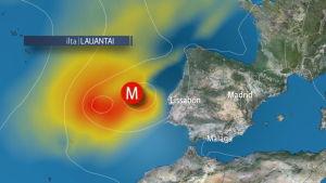 Hurrikaani lähestyy Portugalia