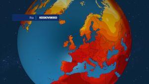 Läntiseen Eurooppaan saapuu kesäkuun viimeisellä viikolla kuuma lämpöaalto Afrikasta