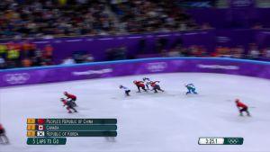 Korean olympialaiset: Dramaattinen loppuratkaisu short trackin naisten viestissä