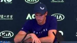 Andy Murrayn tunteikas lehdistötilaisuus