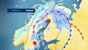 Rain, sleet and snow on the way – poor driving conditions