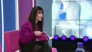 Kirjailija Riikka Pulkkinen liikuttui tulevaisuustutkijan haastattelusta
