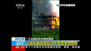 Kemikaalitehdas räjähti Kiinan Yibinissa