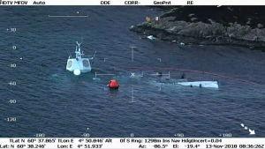 Norjalainen sotalaiva vajosi pinnan alle