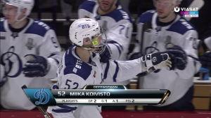 Miika Koivisto iski Dinamon kolmannen maalin, Jokerit vaihtoi maalivahtia