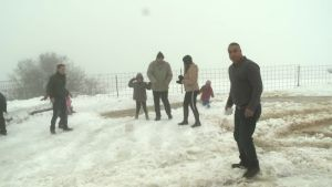 Golanin kukkuloille satoi runsaasti lunta