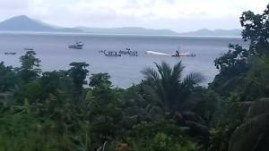Matkustajakone taki pakkolaskun laguuniin Mikronesiassa – kaikki selvisivät