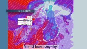 Syysmyrsky iskee Suomeen lauantaina