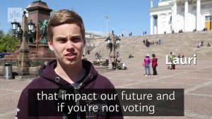 """It's important to vote"" Helsinki voters say of EU election"