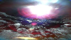 Japanilainen laskeutuja asteroidin pinnalla
