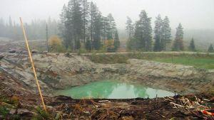 Koekaivauksia Juomasuon alueella Kuusamossa